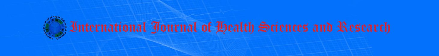 International Journal of Health Sciences and Research